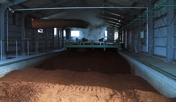堆肥化前の処理物